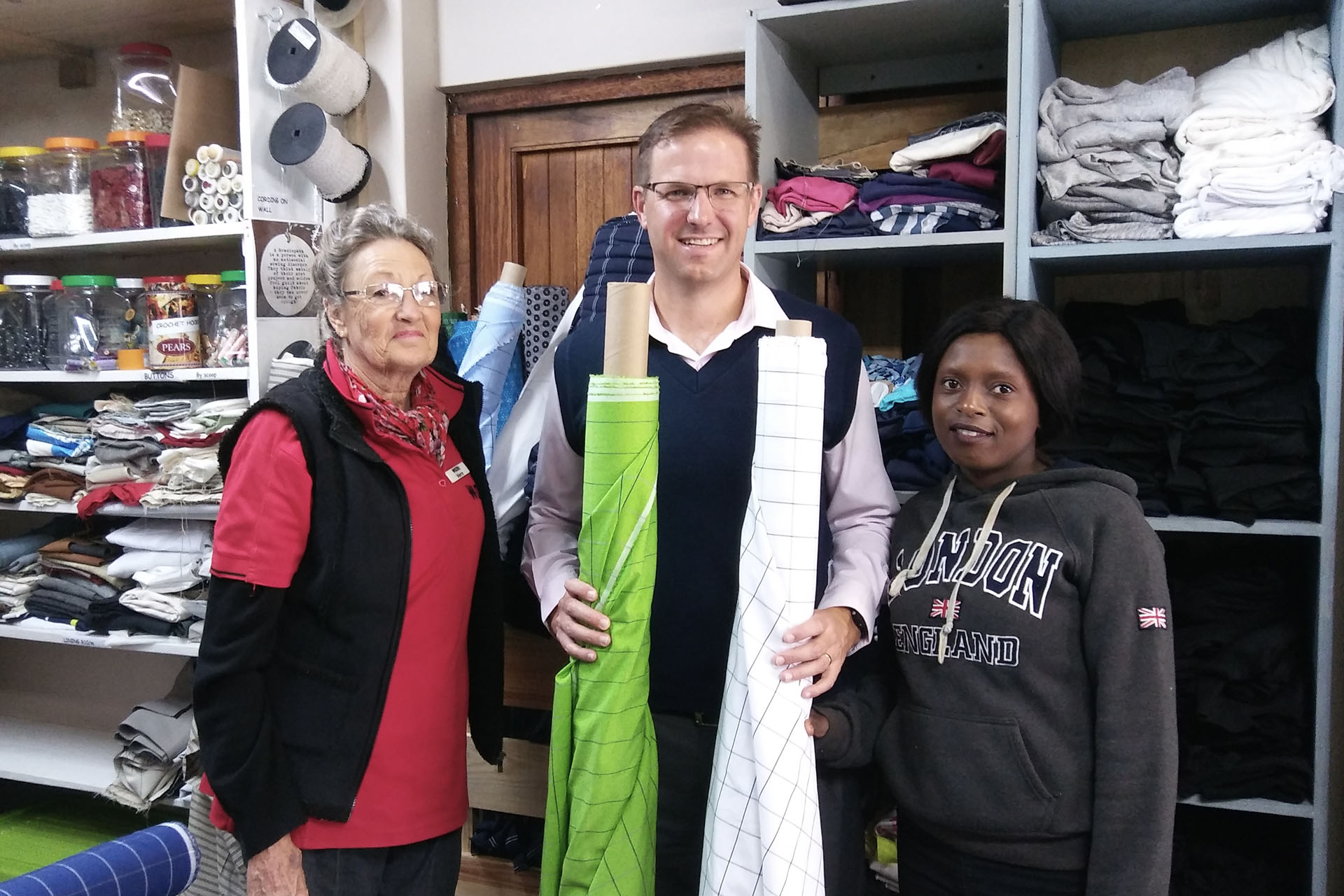 Fabric Donation Gives Haberdashery Project A Lift - Hillcrest AIDS Centre Trust News